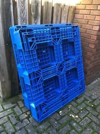 Plastic Blue Pallets x2