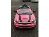Electric pink mini car