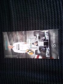 Lewis Hamilton hand signed card