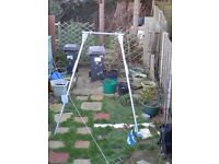 ADULT SIZED SWING FRAME AND ACCESSORIES