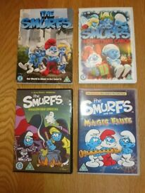 DVD Collection Of The Smurfs Films Four In Total As New Condition £1 Each