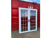 Upvc French patio doors man cave shed garage summerhouse home office gym bar hot tub room doors