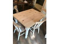 Solid pine table and chairs SOLD