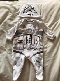 Storm trooper onesie with hat