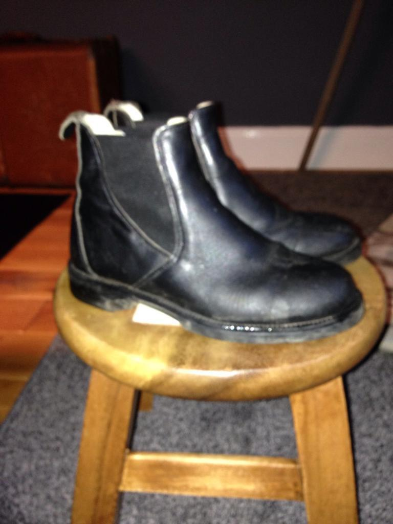Leather Riding Boots Size 2.5 UK