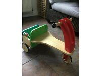 Mothercare Early Learning Wooden Trike with shape sorter