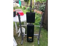 Weight Bench and 40kg of weights for sale