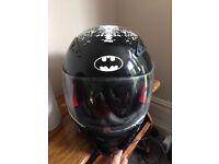 Warner brothers batman motorbikes helmet