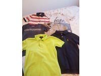 Boys age 8 designer polo shirts/t shirts hugo boss ralph lauren converse