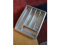 Silver plastic cutlery tray 30 X 39