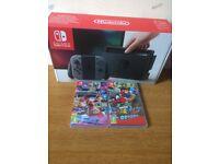 Nintendo Switch Console Bundle Mario Odyssey & Mario Kart Boxed Grey