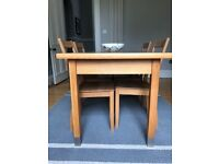 Marks and Spencer solid beech dining / kitchen table