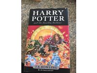 First edition Harry Potter & the Deathly Hallows HB book