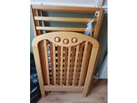 Cosatto solid wooden cot with play beads