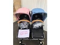 Bugaboo donkey duo and extras