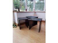 3-piece set of black tables