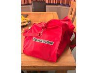 Bridgestone red travel bag