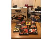 NES console, Master System Plus console, Nintendo, Sega, 60+ MS games, 4 SNES, 5 NES games. Retro