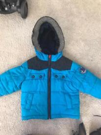 Boys ted baker coat age 2-3 and river island boots size 7