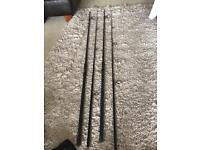 Carp rods; x2 12ft 3.5lb fox torque 50mm rings full duplon good condition