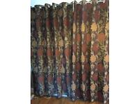 Heavy lined curtains ring top