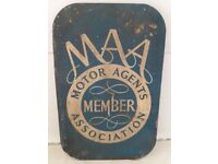 VERY OLD MOTOR AGENTS TIN SIGN