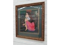 JOSEPH KEARNEY LADY BY THE FIRE OIL PAINTING (DELIVERY AVAILABLE)