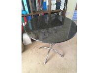 Black granite top Bistro Table, 75cm diameter