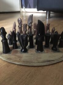 Marble African chess set