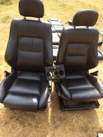 Zafira A or B Black Leather Heated Seats
