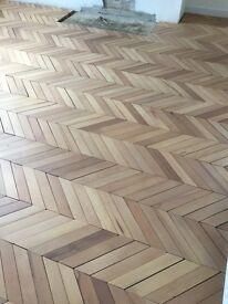 Reclaimed Beech Parquet Flooring