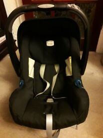Used Britax car seat and travel adapters