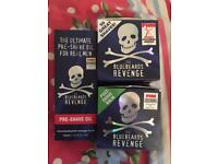 Bluebeards revenge shave cream post shave balm and pre shave oil new