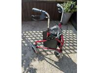 Adjustable and foldable Rollator