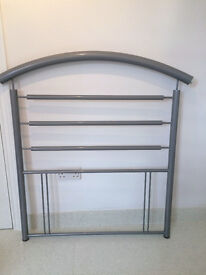 Grey metal headboard for single bed - *REDUCED*