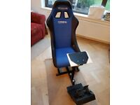 Corbeau GameRacer elite simulator seat: in great condition with pedals