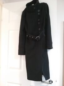 Marks & Spencer black womans coat