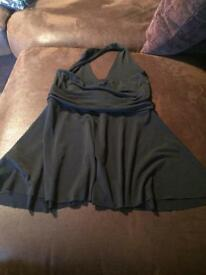 Black halterneck top new look size 8