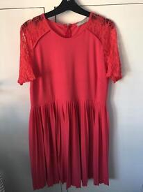 ASOS coral maternity dress size 16