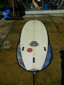 "surfboard shortboard 6""4"