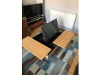 Bo concept chiva lift top oak coffee side table