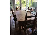 Fabulous family dining table and chairs