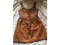 Jolie moi ladies faux leather dress brown size M/L new with tags £8