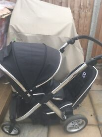 Oyster Max double pushchair buggy