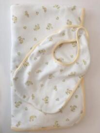 Ralph Lauren baby blanket and bib
