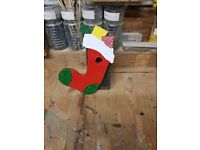 Christmas stocking bird box