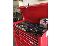 red snap-on tool chest