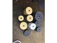 York Fitness Gold & Silver vinyl weight plates