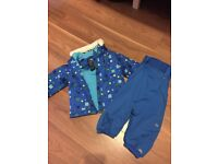 Waterproof padded jacket & dungarees from Trespass 6-12months