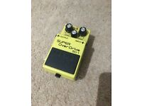 Boss super overdrive SD-1 effects pedal